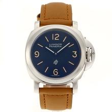 Replique Panerai Luminor Logo OP Unitas 6497 Mouvement avec cadran noir-bracelet en cuir - Attractive Panerai Luminor Marina Montre pour vous 31156