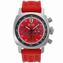 Replique Panerai Ferrari Chronographe de travail avec Red Dial Rubber Strap-- Attractive Panerai Ferrari par Panerai montre pour vous 31140