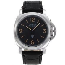 Replique Panerai Luminor Logo OP Unitas 6497 Mouvement avec cadran noir-bracelet en cuir - Attractive Panerai Luminor Marina Montre pour vous 31111