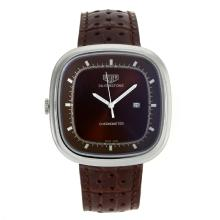 Replique Tag Heuer Silverstone avec Brown Leather Strap Dial-Brown 27495