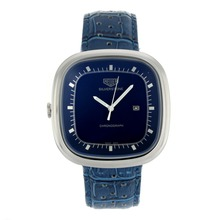 Replik Tag Heuer Silverstone with Blue Dial-Blue Leather Strap 27494