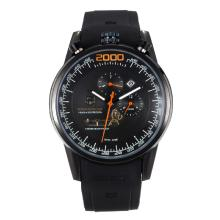 Replik Tag Heuer Mikrogirder 2000 Automatic Full PVD with Black Dial-Orange Needle 27284