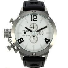 Replique U-Boat Italo Fontana Marqueurs de travail Chronographe Nombre noire avec cadran blanc-bracelet en cuir - Attractive U-Boat Italo Fontana Montre pour vous 35252