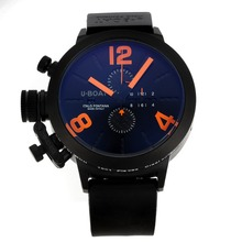 Replique U-Boat Italo Fontana-Chronographe PVD affaire avec cadran noir-orange Marqueurs - Attractive U-Boat Italo Fontana Montre pour vous 35179