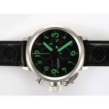 Replik U-Boat FlightDeck Chronograph Swiss Valjoux 7750 Movement with Black Dial-Green Marking – Attractive U-Boat FlightDeck Watch for You 35414