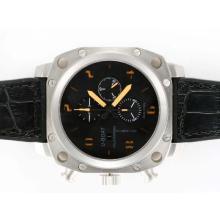 Replique U-Boat milliers de pieds chronographe suisse Valjoux 7750 Mouvement avec cadran noir-orange - Marquage attractifs U-Boat milliers de pieds Watch pour vous 35401