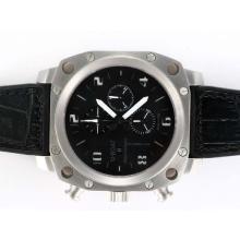 Replique U-Boat milliers de pieds chronographe suisse Valjoux 7750 Mouvement avec cadran noir-blanc Marquage - Attractive U-Boat milliers de pieds Watch pour vous 35400