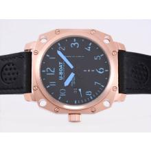 Replik U-Boat Thousands of Feet Automatic Rose Gold Case with Black Dial-Blue Marking – Attractive U-Boat Thousands of Feet Watch for You 35389