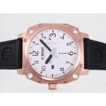Replik U-Boat Thousands of Feet Automatic Rose Gold Case with White Dial-Black Marking – Attractive U-Boat Thousands of Feet Watch for You 35388