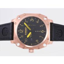 Replik U-Boat Thousands of Feet Automatic Rose Gold Case with Black Dial-Yellow Marking – Attractive U-Boat Thousands of Feet Watch for You 35386