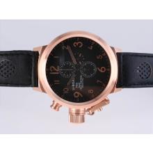 Replique U-Boat Italo Fontana-Chronographe en or rose avec cadran noir - Attractive U-Boat Italo Fontana Montre pour vous 35376