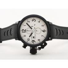 Replique U-Boat Italo Fontana-Chronographe PVD affaire avec cadran blanc-bracelet en caoutchouc - Attractive U-Boat Italo Fontana Montre pour vous 35335