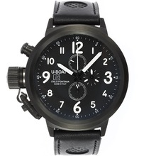 Replik U-Boat Italo Fontana Working Chronograph PVD Case Black Dial with White Markers-Leather Strap – Attractive U-Boat Italo Fontana Watch for You 35313