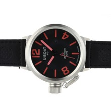 Replik U-Boat Italo Fontana Automatic Black Dial with Red Markers-Leather Strap – Attractive U-Boat Italo Fontana Watch for You 35306