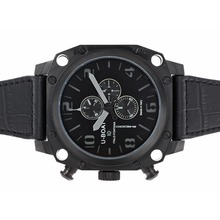 Replik U-Boat Thousands of Feet Working Chronograph PVD Case with Black Dial-Gray Marking – Attractive U-Boat Thousands of Feet Watch for You 35298