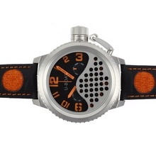 Replik U-Boat Italo Fontana Tourbillon Automatic Black Dial with Orange Markers-Leather Strap – Attractive U-Boat Italo Fontana Watch for You 35296