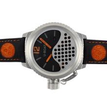Replique U-Boat Italo Fontana Montre Automatique Cadran Noir avec Orange Marqueurs-bracelet en cuir - Attractive U-Boat Italo Fontana Montre pour vous 35293