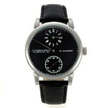 Replique A. Lange & Söhne Unitas 6497 Mouvement avec cadran noir-même châssis que la version ETA - A. Lange & Söhne & Montre attrayant pour vous 38247