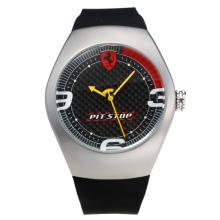 Replique Ferrari avec cadran noir-bracelet gomme-Rouge Marker - Attractive Regarder Ferrari pour vous 36954