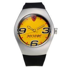 Replik Ferrari with Yellow Dial-Rubber Strap – Attractive Ferrari Watch for You 36952
