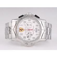 Replique Ferrari-Chronographe avec cadran blanc-Nouvelle Version - Attractive Regarder Ferrari pour vous 37192