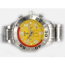 Replique Ferrari de travail Chronographe avec cadran jaune - Attractive Regarder Ferrari pour vous 37189