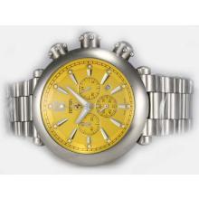 Replique Ferrari de travail Chronographe avec cadran jaune - Attractive Regarder Ferrari pour vous 37186