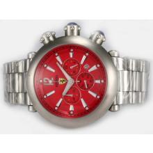 Replique Ferrari de travail Chronographe avec cadran rouge - Attractive Regarder Ferrari pour vous 37185