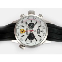 Replik Ferrari Working Chronograph with White Dial – Attractive Ferrari Watch for You 37184