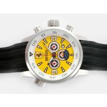 Replique Ferrari de travail Chronographe avec cadran jaune - Attractive Regarder Ferrari pour vous 37181