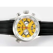 Replique Ferrari de travail Chronographe avec cadran jaune - Attractive Regarder Ferrari pour vous 37180