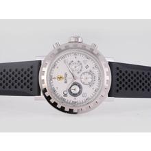 Replique Ferrari-Chronographe avec cadran blanc-bracelet en caoutchouc - Attractive Regarder Ferrari pour vous 37156
