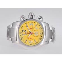 Replique Ferrari de travail Chronographe avec cadran jaune - Attractive Regarder Ferrari pour vous 37150