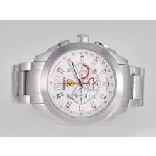Replique Ferrari-Chronographe Cadran Blanc - Attractive Regarder Ferrari pour vous 37149