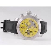 Replique Ferrari de travail Chronographe avec cadran jaune-Rubber Strap - Attractive Regarder Ferrari pour vous 37145