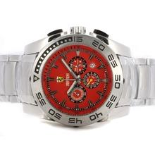 Replique Ferrari Chronographe de travail avec Red Dial S / S - Attractive Regarder Ferrari pour vous 37136