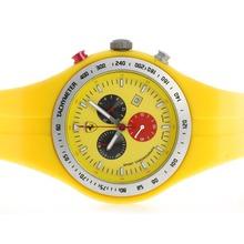 Replique Ferrari de travail Chronographe avec cadran jaune et bracelet en caoutchouc - Attractive Regarder Ferrari pour vous 37131