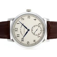 Replique Manuel A. Lange & Söhne classique enroulement avec cadran blanc-bracelet en cuir - A. Lange & Söhne & Montre attrayant pour vous 38338