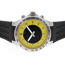 Replique Ferrari jaune Cadran avec Digital Displayer-Rubber Strap - Attractive Ferrari montre pour vous 37123