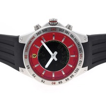 Replique Ferrari Red Dial avec Digital Displayer-Rubber Strap - Attractive Regarder Ferrari pour vous 37122