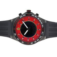 Replique Dial Ferrari PVD rouge avec Digital Displayer-Rubber Strap - Attractive Regarder Ferrari pour vous 37121