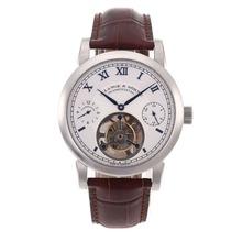 Replique A. Lange & Söhne Lange Tourbillon de travail remontage manuel avec cadran blanc-bracelet en cuir - A. Lange & Söhne & Montre attrayant pour vous 38305