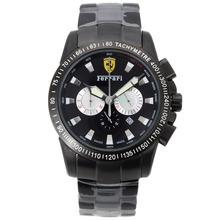 Replique Ferrari Chronograph de travail complet PVD Cadran Noir - Attractive Regarder Ferrari pour vous 37080