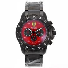 Replique Ferrari Chronograph de travail complet PVD Cadran Rouge - Attractive Regarder Ferrari pour vous 37076