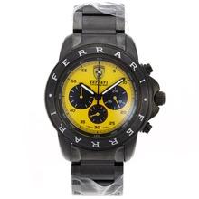 Replique Ferrari Chronograph de travail complet PVD Cadran Jaune - Attractive Regarder Ferrari pour vous 37075