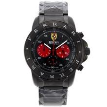 Replique Ferrari Chronograph de travail complet PVD Cadran Noir - Attractive Regarder Ferrari pour vous 37074