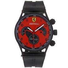 Replik Ferrari Automatic PVD Case with Red Dial-Rubber Strap – Attractive Ferrari Watch for You 37066
