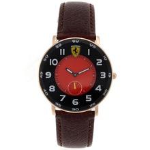 Replique Ferrari Or rose marqueurs Nombre de cas avec Red Dial-bracelet en cuir - Attractive Regarder Ferrari pour vous 37060
