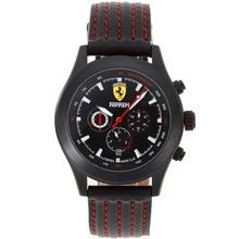 Replik Ferrari Automatic PVD Case with Black Dial-Leather Strap – Attractive Ferrari Watch for You 37042