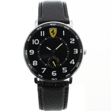 Replik Ferrari Number Markers with Black Dial-Leather Strap – Attractive Ferrari Watch for You 37023